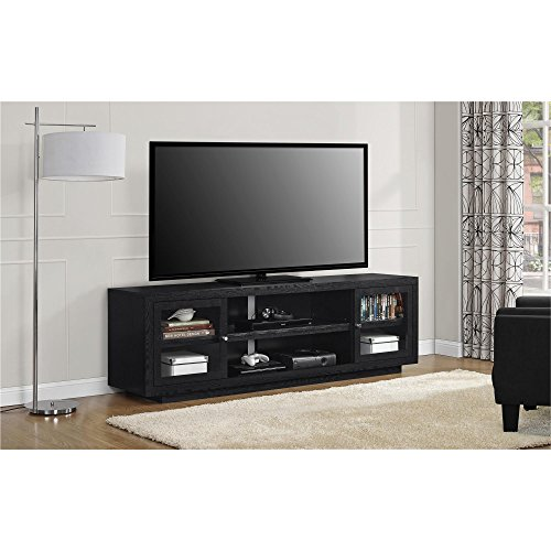 - Ameriwood Home Bailey TV Stand, Black Oak