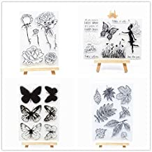 Welcome to Joyful Home 1pc Bear Greetings Clear Stamp for Card Making Decoration and Scrapbooking