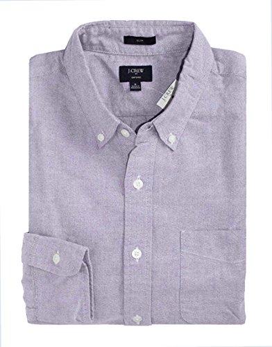 J Crew Factory - Men's Slim Fit - Solid Colors - Oxford Cotton Shirt (Large, Lavender Purple) from J.Crew