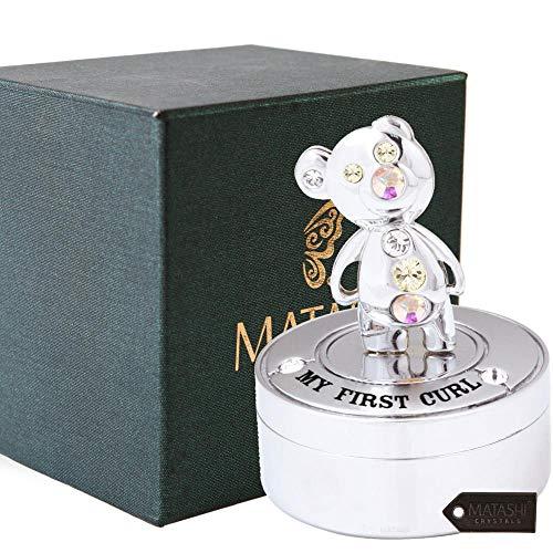 (Chrome Plated Mini Silver Teddy Bear Keepsake Box by)