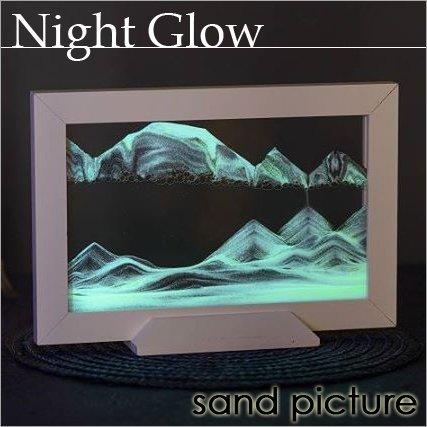 【オーストリア製】 サンドピクチャー sandpicture ナイトグロウ ホワイト 21.7×14.6×5.4cm B01NCYTBIG
