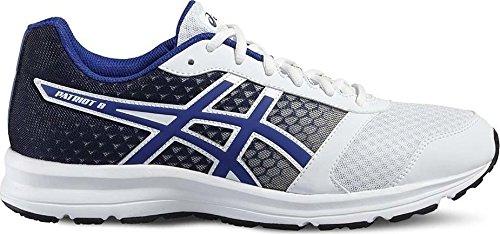 Bleu Asics Pour Chaussures De Multicolore Hommes Patriot Course 8 Noir blanc wzw6q