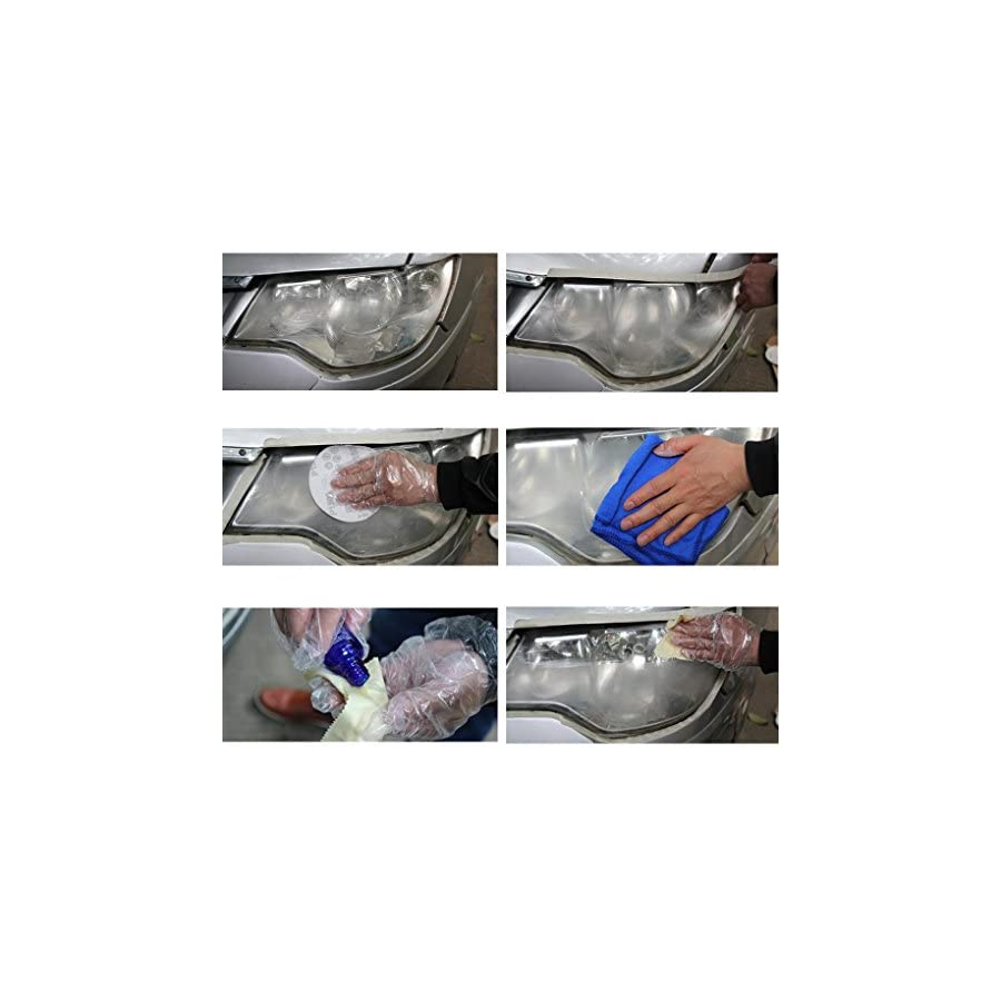 Staron High Gloss Ceramic Car Coating Kit, Car Headlights Oxidation Liquid Ceramic Coat Super Hydrophobic Glass Coating