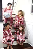 Leveret Men's Fitted Striped Christmas P...