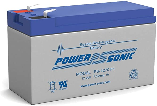Powersonic PS-1270F2-12 Volt 7 Amp Hour Sealed Lead Acid Replacement Battery with 0.250 Fast-on Connector