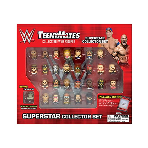 """TeenyMates WWE Superstar Collector Set, 27 WWE TeenyMates 1"""" Figures by The Party Animal"""