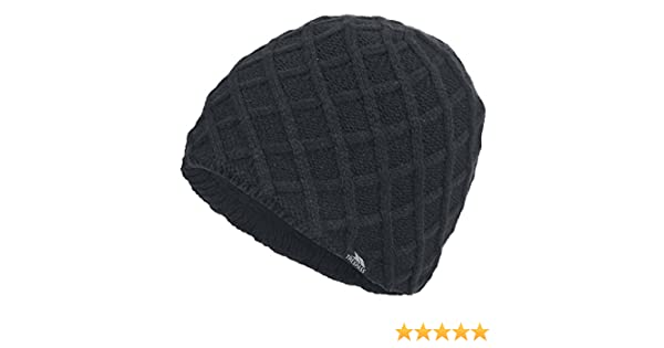7693f3d5601 Trespass Mens Abel Knitted Winter Beanie Hat (One Size) (Black)  Amazon.ca   Sports   Outdoors