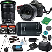 Canon EOS 5D Mark III Camera with 24-105mm IS STM Lens + 55-250mm STM + 2pcs 16GB Memory Card + Camera Case + Card Reader + Tripod + 6pc Starter Set - International Version