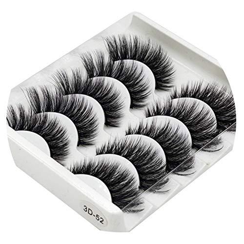 Mix 5Pairs Natural False Eyelashes Fake Lashes Long Makeup 3D Mink Lashes Eyelash Extension Mink Eyelashes For Beauty,3D-52 -