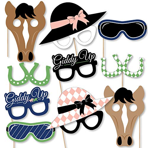 Big Dot of Happiness Kentucky Horse Derby Glasses/Masks/Headpieces