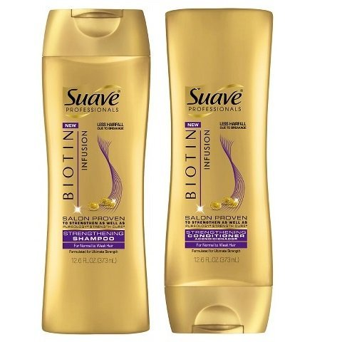 Suave Professional Biotin Infusion Strengthening Shampoo & Conditioner, 12.6 Fl. Oz. Each by Suave