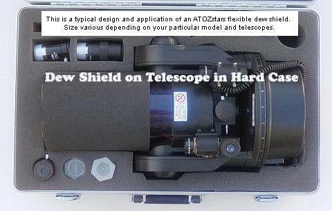 Meade #612 Dew Shield Compatible Flexible Dew Shield for Meade 12 inches LX200 or LX200GPS Telescopes