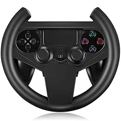 Amazon.com: PS4 Gaming Racing Steering Wheel For PS4 Car Steering ...