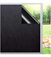 Total Blackout Window Film Sun Blocking Heat Control Anti UV Window Tint Privacy Window Film 100%...