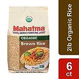 Mahatma Organic Brown Rice, 2 lb (Pack of 6)