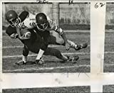 Historic Images 1971 Press Photo Louisiana High School Football Game-Players Go Down in Tackle - 8 x 10 in