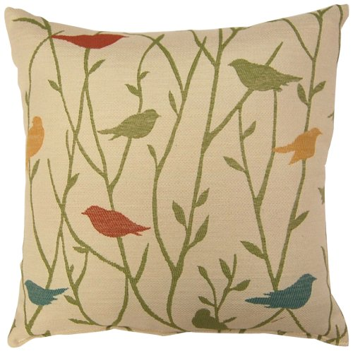 Dakotah Knife Edge Birdwell Lane Pillow, 17 by 17-Inch, Mojito, Set of 2