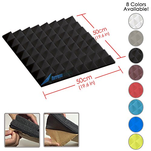 arrowzoom-new-1-piece-of-196-x-196-x-19-inches-soundproofing-insulation-pyramid-self-adhesive-acoust