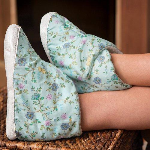 Pantofole Donna Edema Easycomforts Blu Floreale