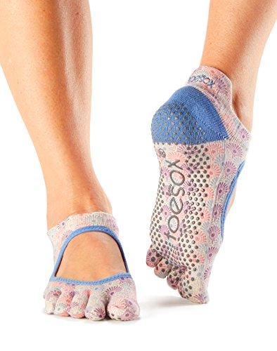 toesox-womens-bellarina-full-toe-grip-socks-sunburst-medium