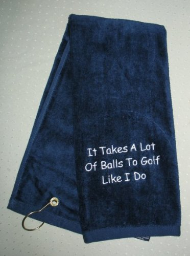 Takes Balls Golf Embroidered Towel product image