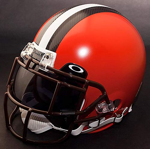 owns NFL Authentic Gameday Football Helmet with Dark-Tint Eye Shield/Visor ()