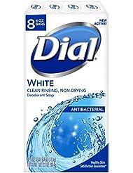 Dial Antibacterial Deodorant Soap, White, 4 Ounce (Pack of 8) Bars