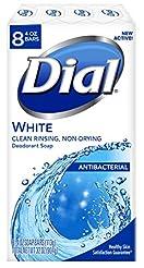 Dial Antibacterial Deodorant Soap, White...
