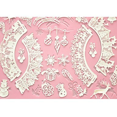 HJLHYL Cake Baking Mat Lace Mat Silicone Cake Mold for Decoration,Silicone Mat Fondant Cake Tools Color Pink by HJLHYL