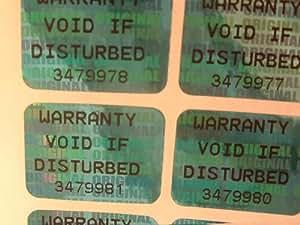 Garantía levantándose holograma etiquetas: pegatinas de seguridad 1,000 x