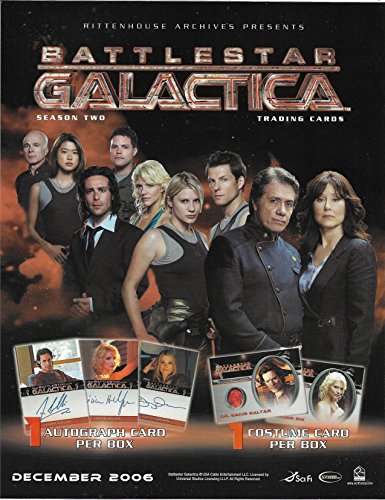 2007 Rittenhouse Archives Battlestar Galactica Season 2 Complete Master Set with Jim Kyle Sketch All Autographs Costumes and Inserts - Starbuck Galactica Costume