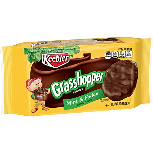 Chocolate Fudge Mint Cookies - Keebler Grasshopper Cookies, Mint and Fudge, 10 oz Tray
