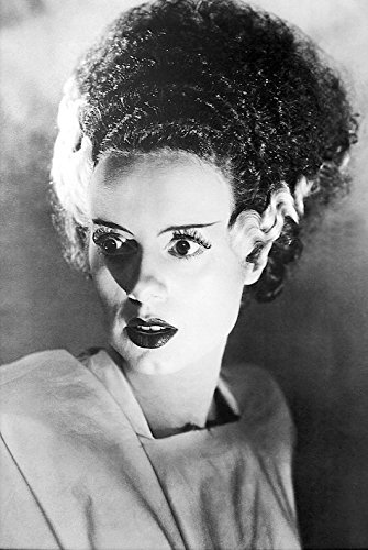 Buyartforless Bride of Frankenstein 1935 Elsa Lanchester 36x24 Black and White Movie Art Print Poster Photograph Famous Classic Hollywood Film ()