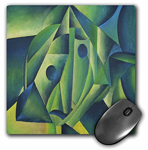 Price comparison product image 3dRose LLC 8 x 8 x 0.25 Inches Woman and Headscarf Cubism, Contemporary, Decorative, Abstract, Woman, Islam Pattern Mouse Pad (mp_46771_1)