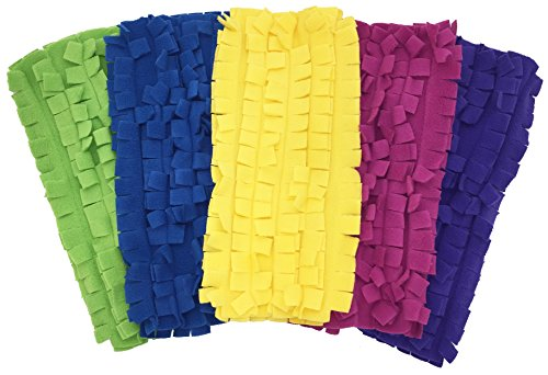 (Xanitize Fleece Sweeper Mop Refills for Swiffer - Reusable, Dry Duster, for Hardwoods, Laminates - 5-pack Rainbow II)