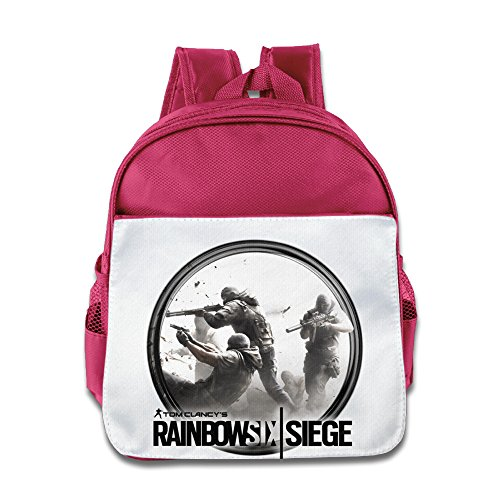 Price comparison product image XJBD Custom Cool Tom Clancy's Rainbow Six Siege Children School Bagpack For 1-6 Years Old Pink