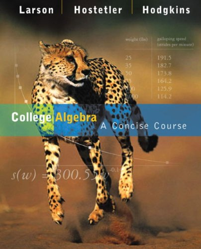 Student Study Guide for Larson/Hostetler/Hodgkins' College Algebra: A Concise Course