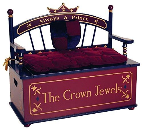 Wildkin Prince Toy Box Bench (Prince Toy Box)