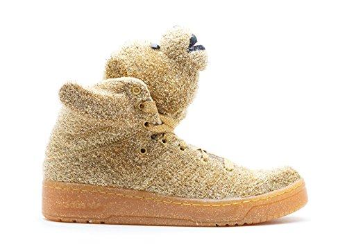 Jeremy Scott Bear (taglie Unisex) In Supplicol / Lgtoldgol (oro) Di Adidas Supcol, Supcol, Ltolgo
