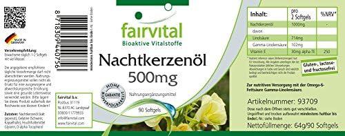 Aceite de Onagra 500mg - Altamente dosificado - 90 cápsulas ...