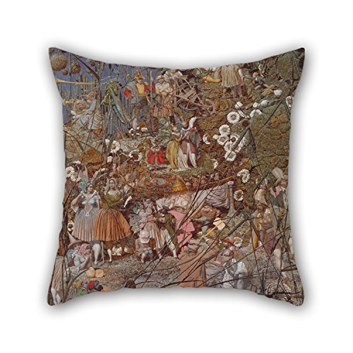 Oil Painting Richard Dadd - The Fairy Feller's Master-Stroke Pillow Covers 16 X 16 Inches / 40 By 40 Cm Best Choice For Car Seat,indoor,bf,sofa,boy Friend,kids Girls With Twice - Camp Daybed