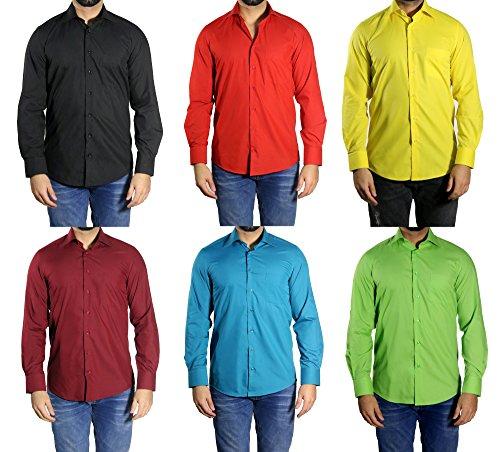 MUGA -  Camicia classiche  - Basic - Classico  - Maniche lunghe  - Uomo nero Small