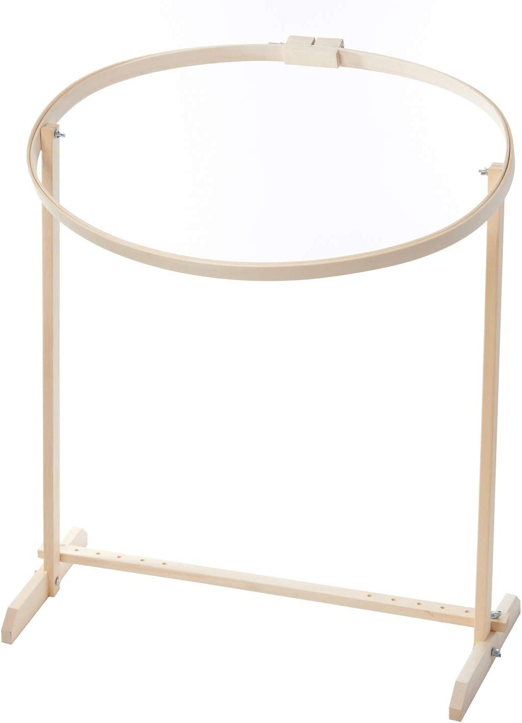 Amish Oak Wood Swivel 22 Quilting Hoop with Stand