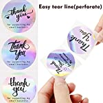 Purple Thank You for Supporting My Small Business Stickers, 8Designs, 1.5″, Holographic Round Labels, Thank You Stickers Roll for Boutiques, Shop, Wrapping Supplies, Purchase, Order Packaging, 500PCS