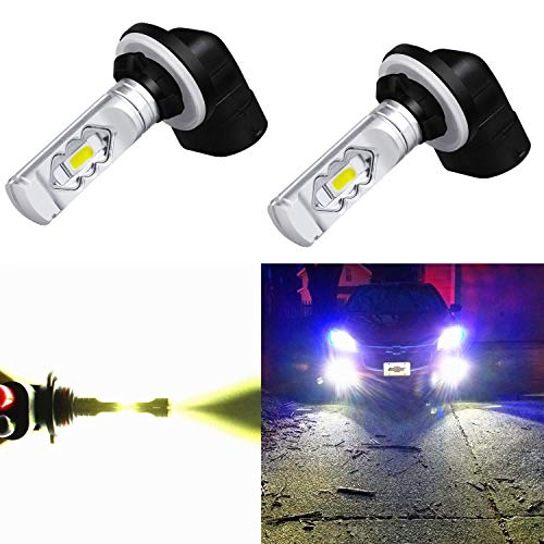 Alla Lighting 3800lm 889 881 LED Fog Light Bulbs Xtreme Super Bright 898 881 LED Bulb ETI 56-SMD LED 881 Bulb for Auto Motorcycle Cars Trucks SUVs Fog DRL Lights, 6000K Xenon White (Set of 2)