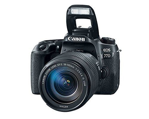 Canon EOS 77D 24.2MP Digital SLR Camera + EF-S 18-135 mm 3.5-5.6 is USM Lens with 16 GB Card Inside and Camera Case 2