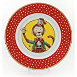 Enamelware - Monkey Pattern - Kids 3 Piece Giftboxed with 4 Ounce Mug, 14 Ounce Bowl and 8½ Inch Plate