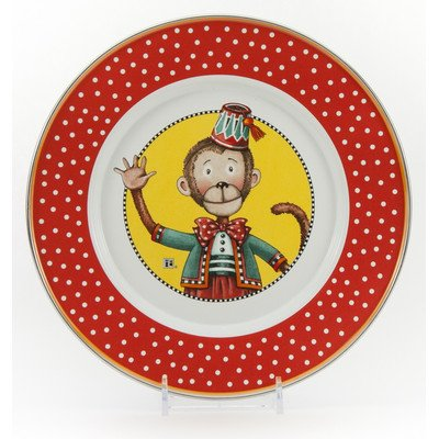 Enamelware - Monkey Pattern - Kids 3 Piece Giftboxed with 4 Ounce Mug, 14 Ounce Bowl and 8½ Inch Plate by Golden Rabbit