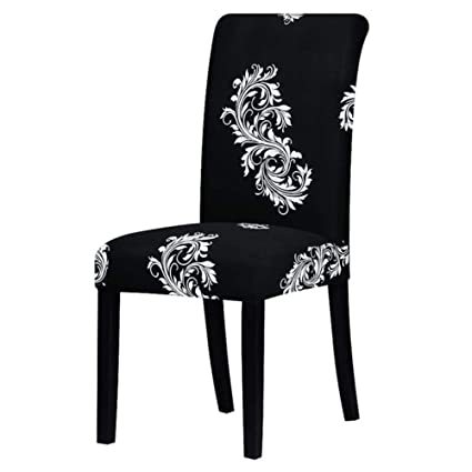 Hakazhi Inc Printing Zebra Stretch Chair Cover Big Elastic Seat Chair Covers Painting Slipcovers Restaurant Banquet Hotel Home Decoration (Black and ...