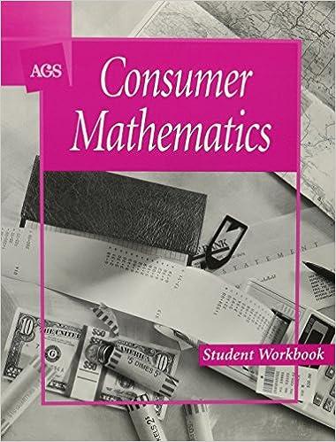Consumer Mathematics Student Workbook Ags Secondary 9780785404811 Amazon Com Books Ags consumer math worksheets pdf